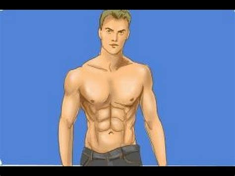 drawing of beach muscle man picture 9