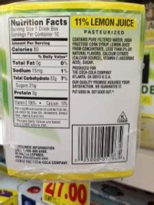 country time lemonade citric acid content fda picture 12