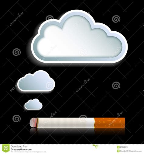 woman in cloud of cigarette smoke picture 2
