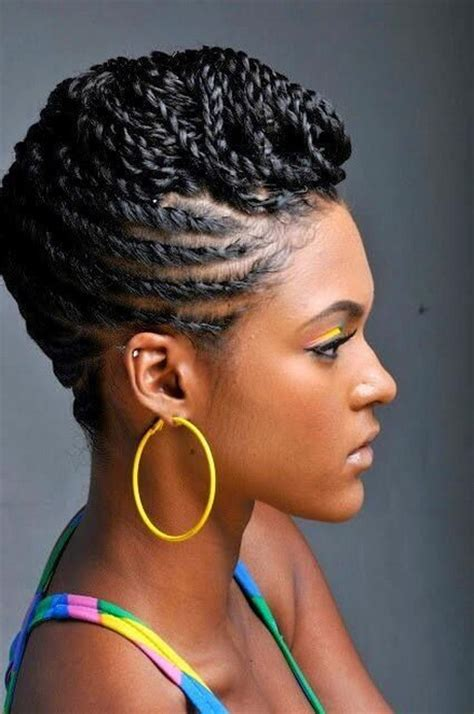 pictures of black hairstyles of flat twists picture 9
