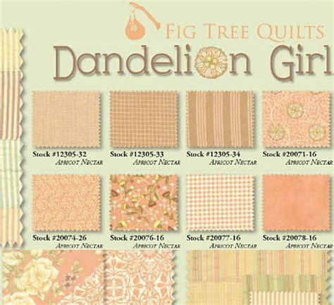 dandelion girl fabric line picture 5