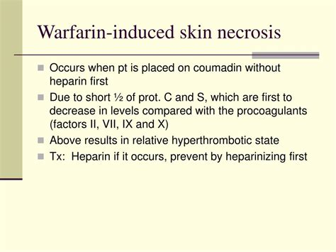 coumadin--effects on skin picture 4