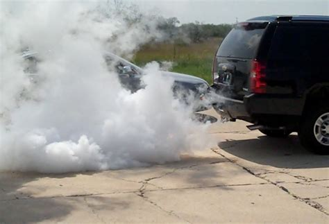 white smoke from tailpipe picture 14