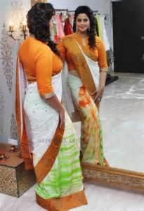 nagma actres white saree open nipile picture 1