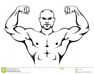carnival beach muscle man drawings picture 21
