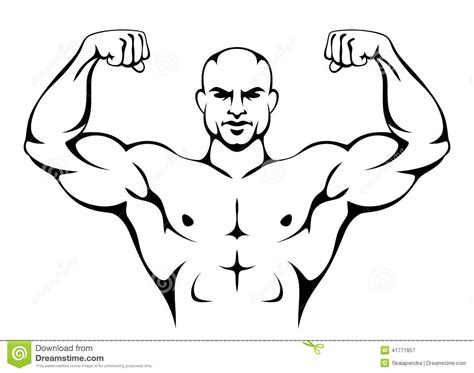 muscle beach man drawing picture 1