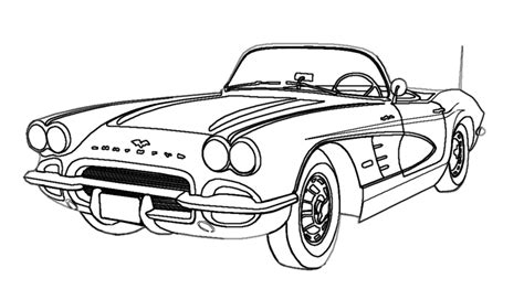 drawing old muscle cars picture 17