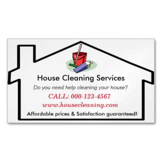 examples of business cards for home cleaning picture 5