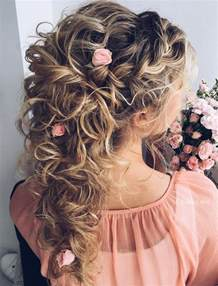 curly frizzy hair updo for wedding picture 2