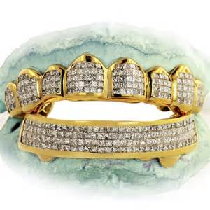 gold diamond cut teeth picture 5