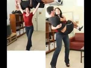 big women lift and carry shoulder riding picture 6