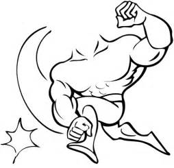 free muscle man clipart picture 5