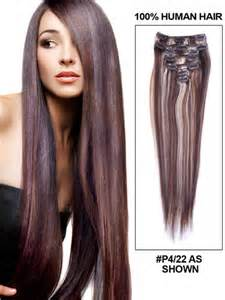 buy human hair extensions clip in picture 18