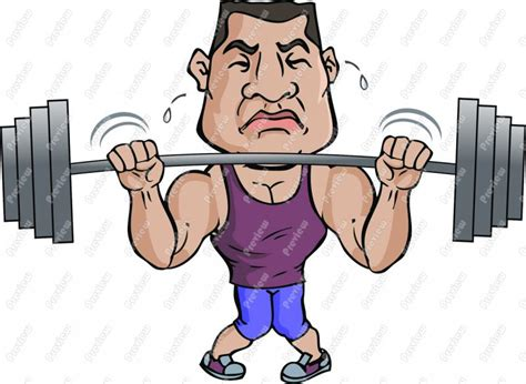 cartoon of muscle beach man picture 14