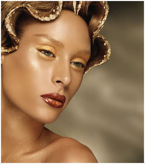 makeup for light skin gold picture 2