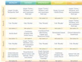 atkin's diet daily schedule picture 9