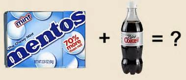 diet coke mentos picture 7