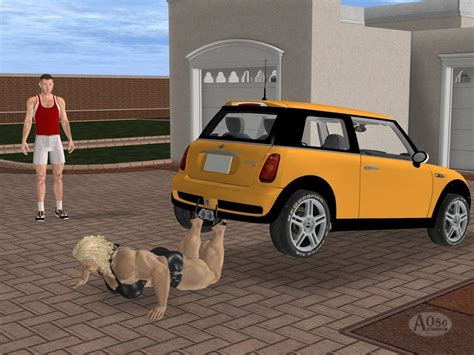 female lifting car picture 7