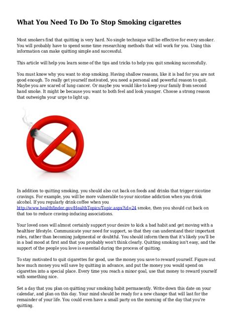 what you need to do to quit smoking picture 2