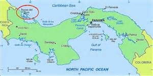 city map of isla colon panama picture 3