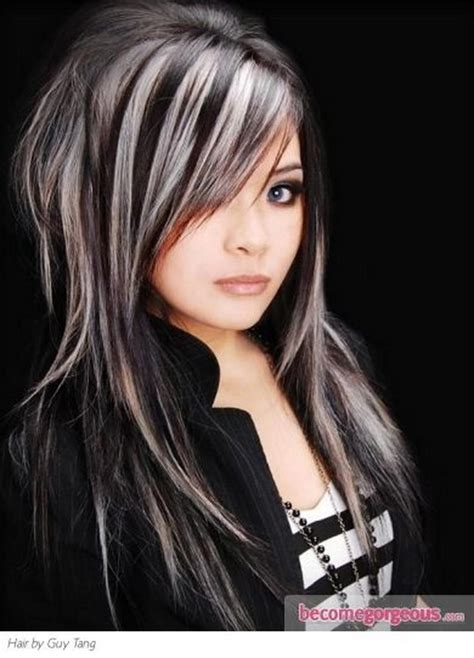 black hair with blonde streaks picture 10