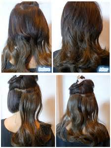 steps to putting in hair extensions picture 7