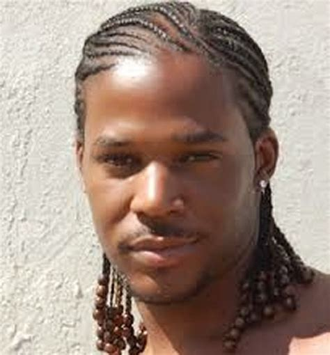 black man hair braids style picture 2