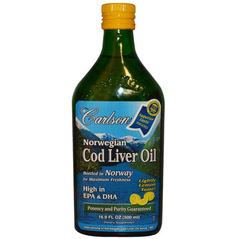 carlson cod liver oil - lemon flavored picture 1