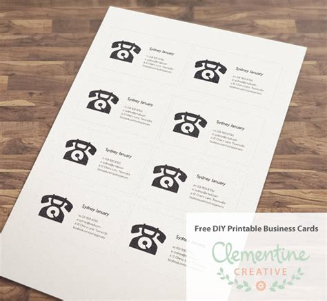 free printable online business cards picture 17
