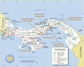 city map of isla colon panama picture 1