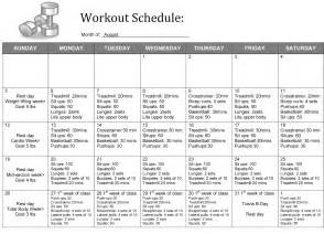 weight loss workout schedule picture 3