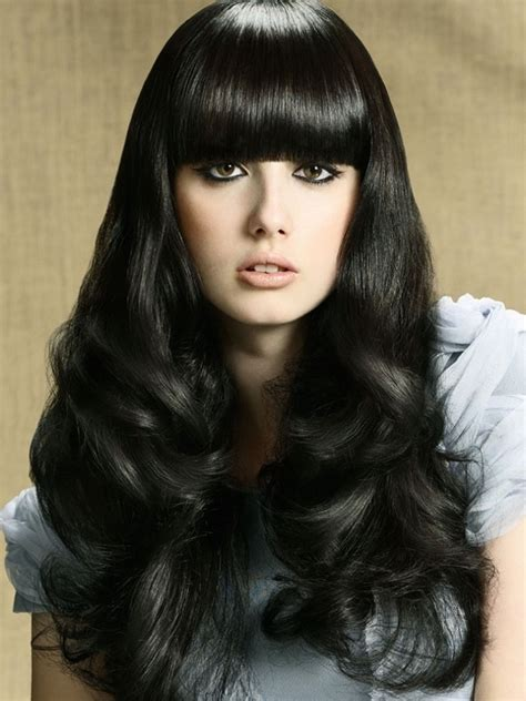 black hair photos with bangs picture 15