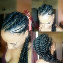pictures of feed-in cornrow hairstyles picture 7