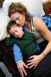 mom and son sleeping picture 5