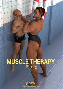muscular female bodybuilder ing two guys picture 10
