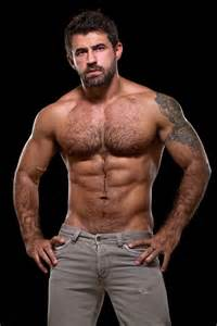 hairy muscle beard mens picture 7