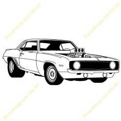 free printable muscle car art picture 1