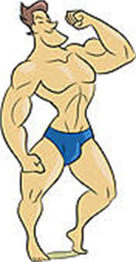 cartoon of muscle beach man picture 7