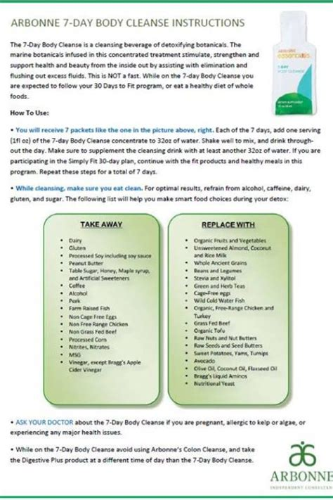 arbonne 7 day cleanse instructions 2014 picture 4