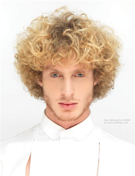 man with blonde curly hair picture 15