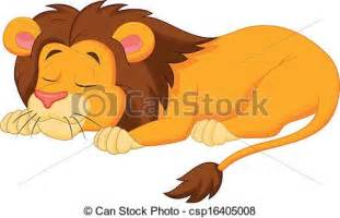 graphic of a lion sleeping picture 3