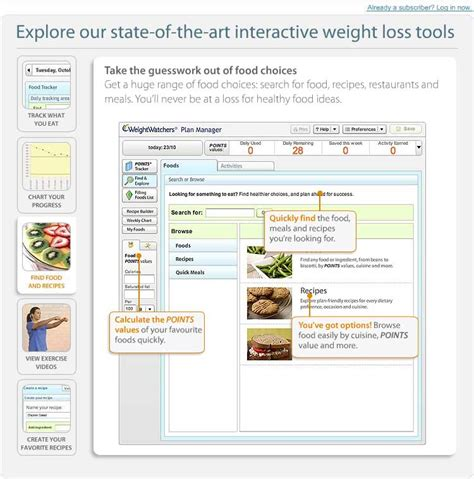 weighchers online weight loss - weight watchers etools picture 5