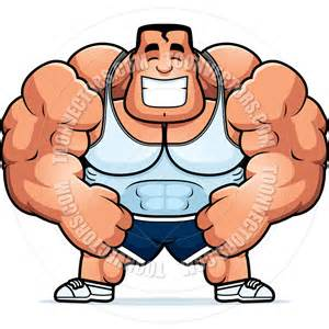beach muscle man cartoons picture 1