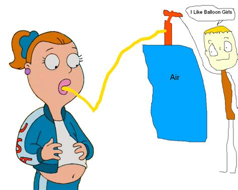 female air belly expansion animation picture 1