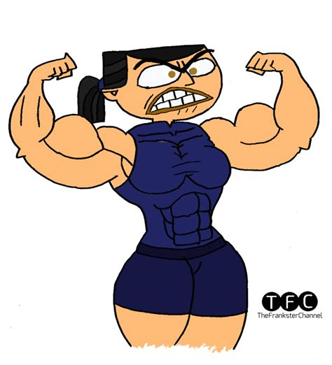cartoon muscles women picture 13
