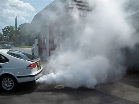 white smoke from tailpipe picture 15