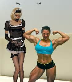 msculare female vs strong man picture 1