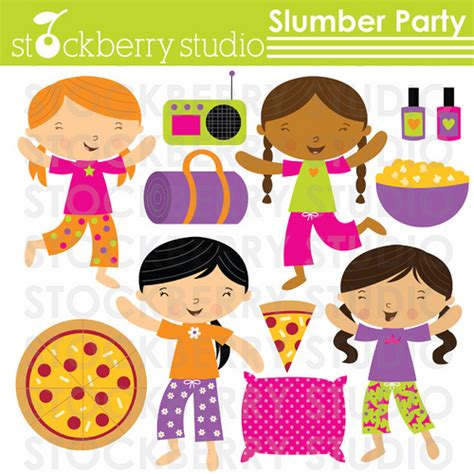 clip art with sleep over partys picture 14
