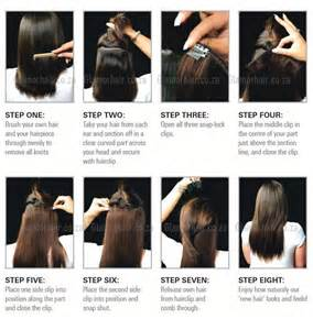 steps to putting in hair extensions picture 2