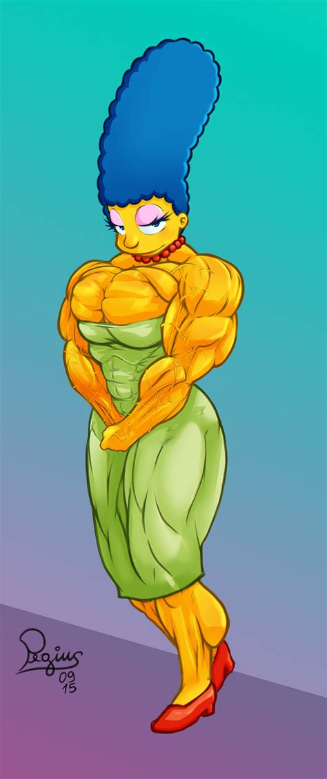 marge simpson muscle growth picture 2